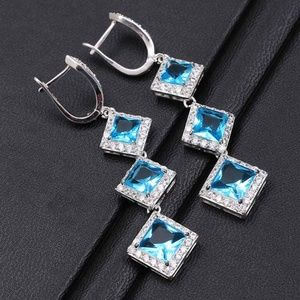 NWT Sapphire Dangle Earrings